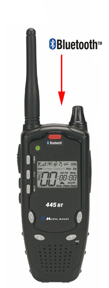 Midland 445 BT PMR radio med Bluetooth